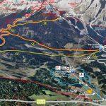 Mappa Cortina d'Ampezzo itinerari Tofana